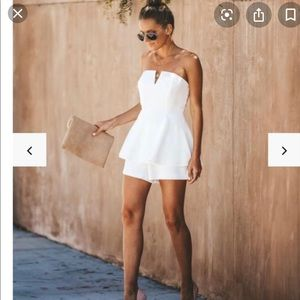 Vici Collection Your One + Only Strapless Romper